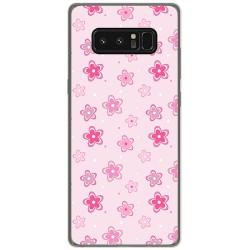 Funda Gel Tpu para Samsung Galaxy Note 8 Diseño Flores Dibujos