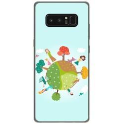 Funda Gel Tpu para Samsung Galaxy Note 8 Diseño Familia Dibujos