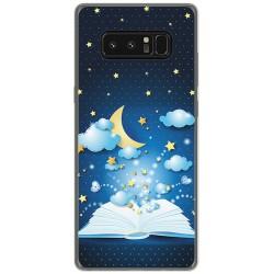 Funda Gel Tpu para Samsung Galaxy Note 8 Diseño Libro Cuentos Dibujos