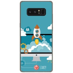 Funda Gel Tpu para Samsung Galaxy Note 8 Diseño Cohete Dibujos