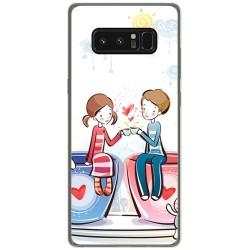 Funda Gel Tpu para Samsung Galaxy Note 8 Diseño Cafe Dibujos