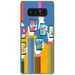 Funda Gel Tpu para Samsung Galaxy Note 8 Diseño Apps Dibujos