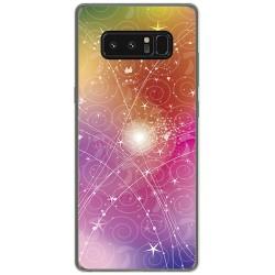 Funda Gel Tpu para Samsung Galaxy Note 8 Diseño Abstracto Dibujos