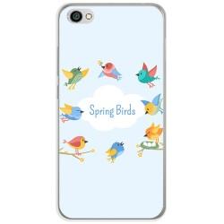 Funda Gel Tpu para Xiaomi Redmi Note 5A Diseño Spring Birds Dibujos
