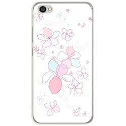 Funda Gel Tpu para Xiaomi Redmi Note 5A Diseño Flores Minimal Dibujos