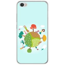 Funda Gel Tpu para Xiaomi Redmi Note 5A Diseño Familia Dibujos