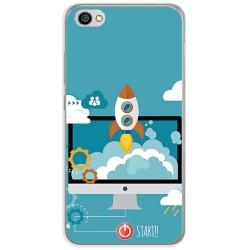 Funda Gel Tpu para Xiaomi Redmi Note 5A Diseño Cohete Dibujos