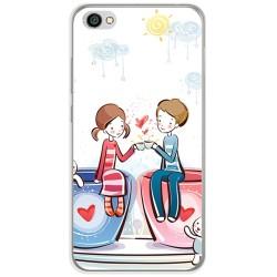 Funda Gel Tpu para Xiaomi Redmi Note 5A Diseño Cafe Dibujos