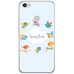 Funda Gel Tpu para Xiaomi Redmi Note 5A Pro / 5A Prime Diseño Spring Birds Dibujos