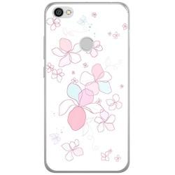 Funda Gel Tpu para Xiaomi Redmi Note 5A Pro / 5A Prime Diseño Flores Minimal Dibujos