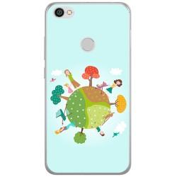 Funda Gel Tpu para Xiaomi Redmi Note 5A Pro / 5A Prime Diseño Familia Dibujos