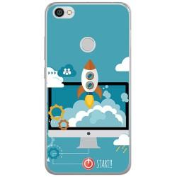 Funda Gel Tpu para Xiaomi Redmi Note 5A Pro / 5A Prime Diseño Cohete Dibujos