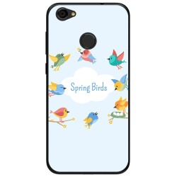 Funda Gel Tpu para Zte Blade A6 Diseño Spring Birds Dibujos
