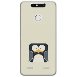 Funda Gel Tpu para Zte Blade V8 Mini Diseño Pingüino Dibujos