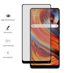 Protector Cristal Templado Frontal Completo Negro para Xiaomi Mi Mix 2 Vidrio