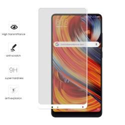 Protector Cristal Templado Frontal Completo Blanco para Xiaomi Mi Mix 2 Vidrio