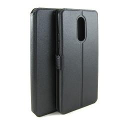 Funda Soporte Piel Negra para Lenovo K6 Note Flip Libro