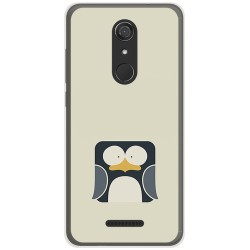Funda Gel Tpu para Wiko View Diseño Pingüino Dibujos
