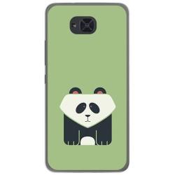 Funda Gel Tpu para Bq Aquaris U2 / U2 Lite Diseño Panda Dibujos