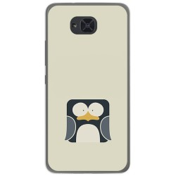 Funda Gel Tpu para Bq Aquaris U2 / U2 Lite Diseño Pingüino Dibujos