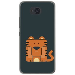 Funda Gel Tpu para Bq Aquaris U2 / U2 Lite Diseño Tigre Dibujos