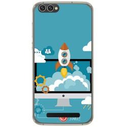 Funda Gel Tpu para Doogee X30 Diseño Cohete Dibujos