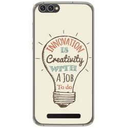 Funda Gel Tpu para Doogee X30 Diseño Creativity Dibujos
