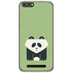 Funda Gel Tpu para Doogee X30 Diseño Panda Dibujos