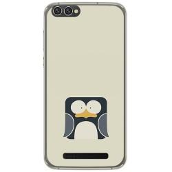 Funda Gel Tpu para Doogee X30 Diseño Pingüino Dibujos