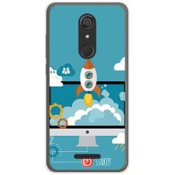 Funda Gel Tpu para Wiko View Diseño Cohete Dibujos