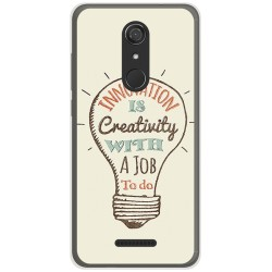 Funda Gel Tpu para Wiko View Diseño Creativity Dibujos