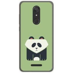 Funda Gel Tpu para Wiko View Diseño Panda Dibujos