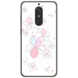 Funda Gel Tpu para Wiko View XL Diseño Flores Minimal Dibujos