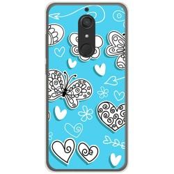 Funda Gel Tpu para Wiko View XL Diseño Mariposas Dibujos