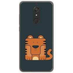 Funda Gel Tpu para Wiko View XL Diseño Tigre Dibujos
