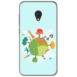 Funda Gel Tpu para Alcatel U5 (3G) Diseño Familia Dibujos