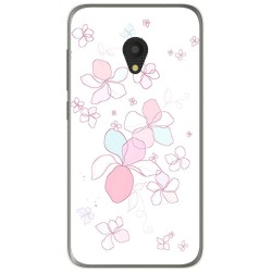 Funda Gel Tpu para Alcatel U5 (3G) Diseño Flores Minimal Dibujos