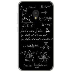 Funda Gel Tpu para Alcatel U5 (3G) Diseño Formulas Dibujos