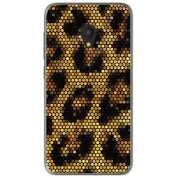 Funda Gel Tpu para Alcatel U5 (3G) Diseño Leopardo Dibujos