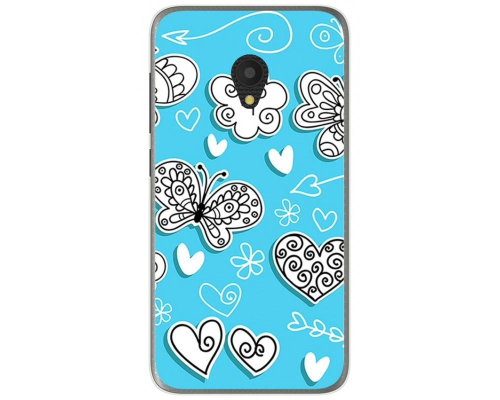 Funda Gel Tpu para Alcatel U5 (3G) Diseño Mariposas Dibujos