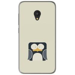 Funda Gel Tpu para Alcatel U5 (3G) Diseño Pingüino Dibujos