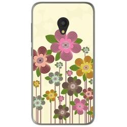 Funda Gel Tpu para Alcatel U5 (3G) Diseño Primavera En Flor Dibujos