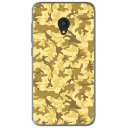 Funda Gel Tpu para Alcatel U5 (3G) Diseño Sand Camuflaje Dibujos