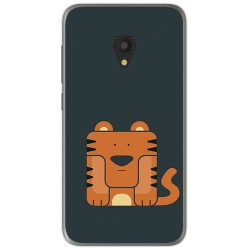 Funda Gel Tpu para Alcatel U5 (3G) Diseño Tigre Dibujos