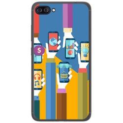 """Funda Gel Tpu para Asus Zenfone 4 Max 5.5"""" Zc554Kl Diseño Apps Dibujos"""
