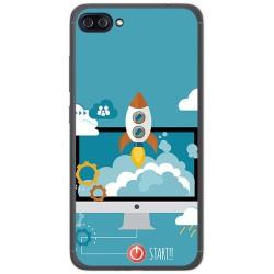 """Funda Gel Tpu para Asus Zenfone 4 Max 5.5"""" Zc554Kl Diseño Cohete Dibujos"""