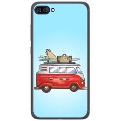 """Funda Gel Tpu para Asus Zenfone 4 Max 5.5"""" Zc554Kl Diseño Furgoneta Dibujos"""