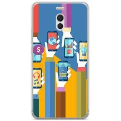 Funda Gel Tpu para Meizu M6 Note Diseño Apps Dibujos