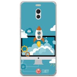 Funda Gel Tpu para Meizu M6 Note Diseño Cohete Dibujos