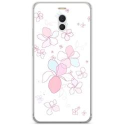 Funda Gel Tpu para Meizu M6 Note Diseño Flores Minimal Dibujos